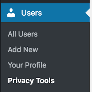 Privacy Tools menu