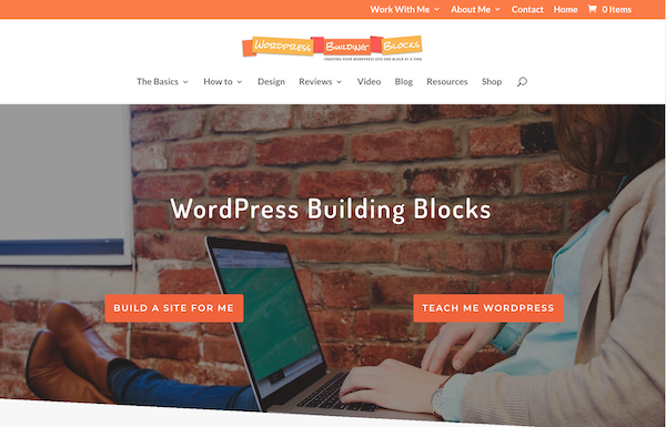 screenshot of new WordPress Building Blocks front page