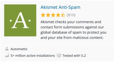 Akismet is your first line of defense against comment spam on your WordPress site.