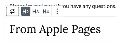 change the block from a paragraph to the appropriate heading