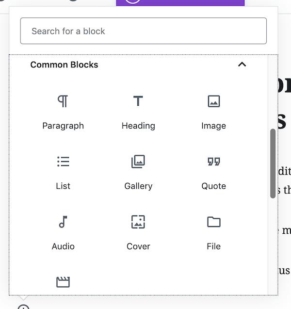 common blocks