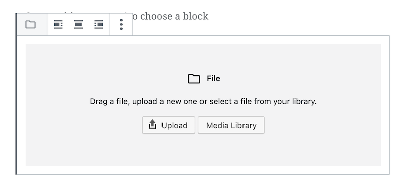 Here's another common block - the File Block - that you may not use all that often