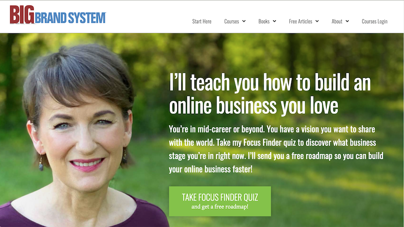 Big Brand Systems homepage, with a very mobile responsive header