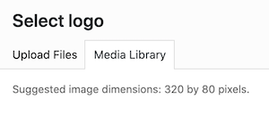 dimensions for logo in Navigation Pro theme