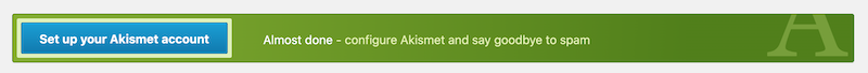 Or you can click the big blue Set up your Akismet account button