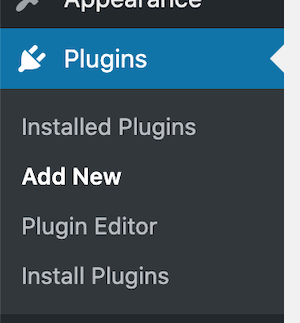 plugins menu in your WordPress dashboard